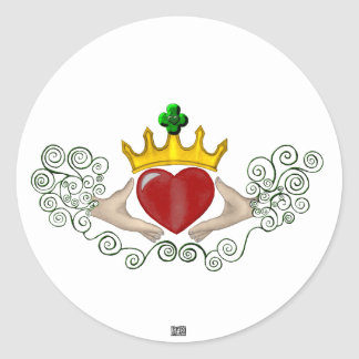 The Claddagh (Full Colour) Round Sticker
