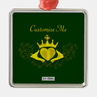 The Claddagh (Gold) Metal Ornament