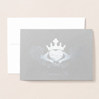 The Claddagh (Silvery) Foil Card