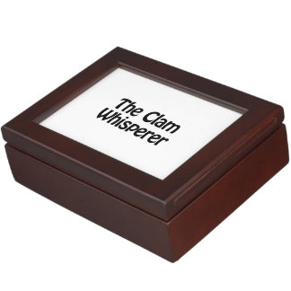 the clam whisperer keepsake box