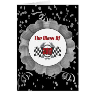 The Class of 2017 Graduation Checkered Flag Card