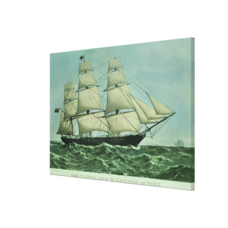 The Clipper ship 'Highflyer', 1111 tons Gallery Wrapped Canvas