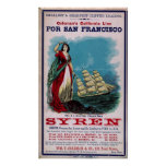 The Clipper Ship - Syren Posters