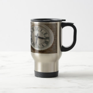 The clock on the facade of the Palazzo dei Priori Travel Mug