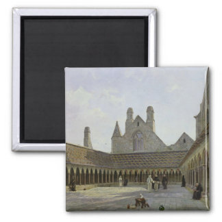 The Cloister of Mont Saint-Michel Square Magnet