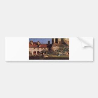 The Cloisters by William Merritt Chase Bumper Sticker