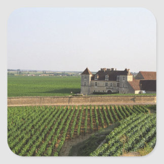 The Clos de Vougeot 16th century monastery and Square Sticker