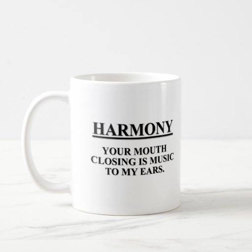 The closing your mouth is music to my ears mug