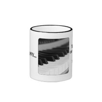 The closing your mouth is music to my ears ringer coffee mug