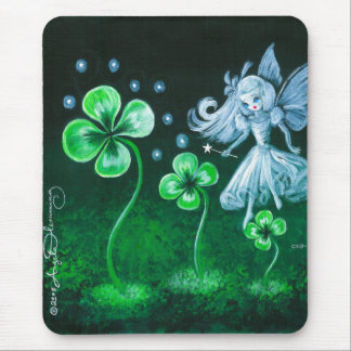 The Clover Faerie Of April Mousepads