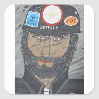 The Coal Man Square Sticker