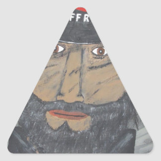 The Coal Man Triangle Sticker