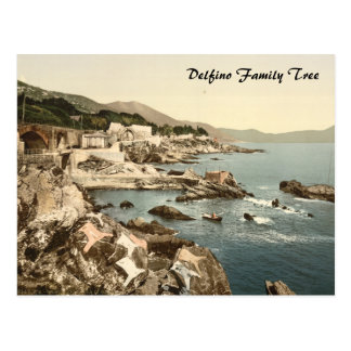 The Coast at Nervi, Genoa, Liguria, Italy Postcard