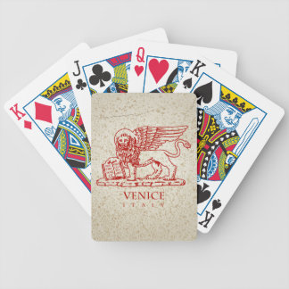 The Coat of Arms of Venice, Italy Bicycle Playing Cards