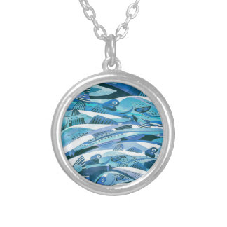 The Cod Run IV.jpg Silver Plated Necklace