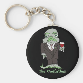 The Codfather Digital Photo Cute Keychains