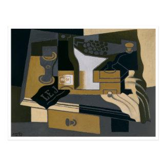 The Coffee Grinder by Juan Gris Postcard