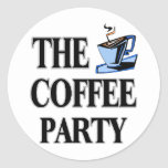 The Coffee Party Round Sticker
