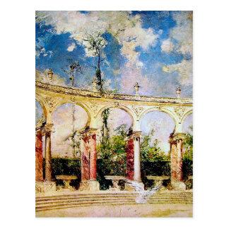 The Collonade in Versailles by Giovanni Boldini Postcard