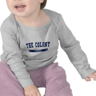 The Colony Texas College Style tee shirts