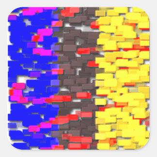 The Colored Building Blocks Square Sticker