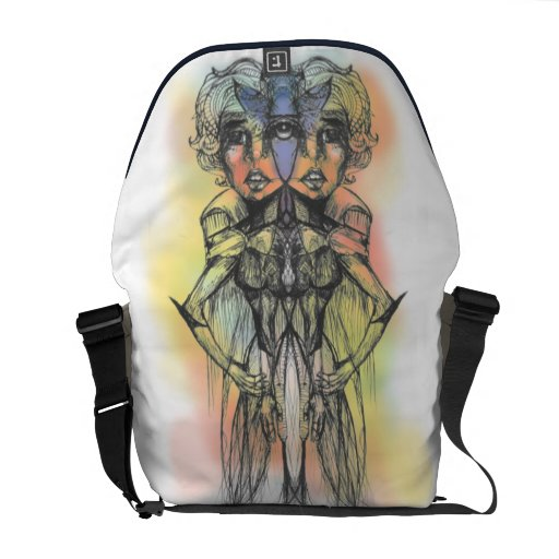 The Colored Butterfly Duo Rickshaw Messenger Bag