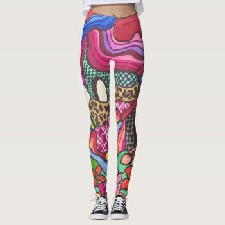 The colorful houses leggings