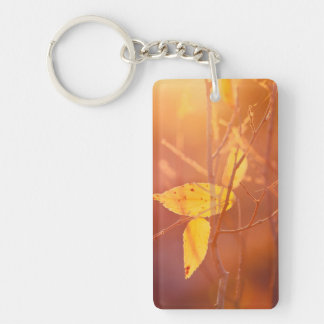 The colors of autumn Double-Sided rectangular acrylic key ring