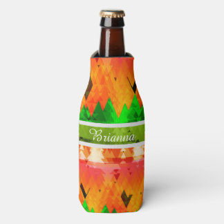 The colors of autumn Pine Trees Bottle Cooler