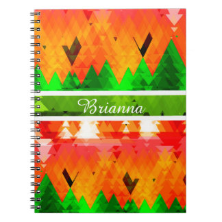 The colors of autumn pine trees customizable notebook