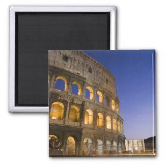 the Colosseum ampitheatre illuminated at night Magnet