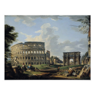 The Colosseum and the Arch of Constantine Poster