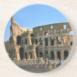 The Colosseum in Rome Beverage Coasters