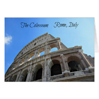 The Colosseum in Rome, Italy Card