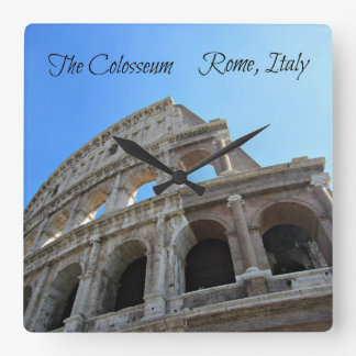 The Colosseum in Rome, Italy Square Wall Clock