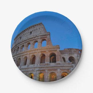 The Colosseum, originally the Flavian Amphitheater Paper Plate