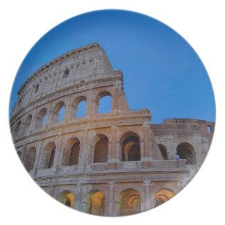 The Colosseum, originally the Flavian Amphitheater Plate
