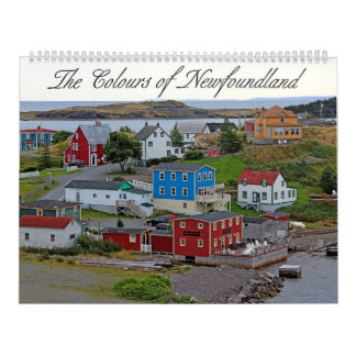 The Colours of Newfoundland Wall Calendar