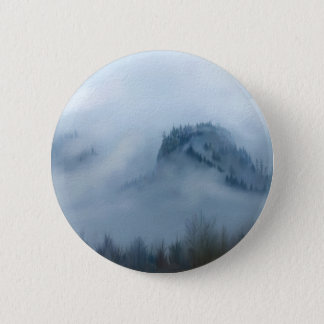 The Columbia Gorge In The Fog 6 Cm Round Badge