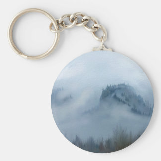 The Columbia Gorge In The Fog Key Ring