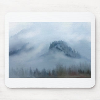 The Columbia Gorge In The Fog Mouse Pad