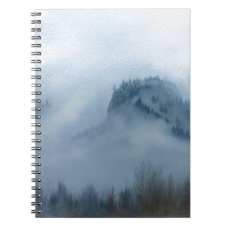 The Columbia Gorge In The Fog Notebook