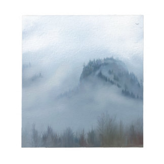 The Columbia Gorge In The Fog Notepad