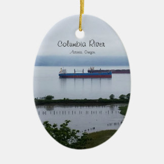 The Columbia River in Astoria Oregon Ornament