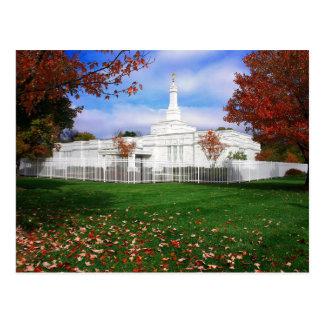 The Columbus Ohio LDS Temple Postcard
