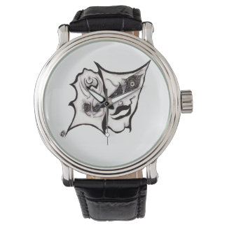 The Comedy of Tragedy Art Wrist Watch
