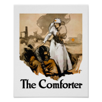 The Comforter - Red Cross WW1 Poster