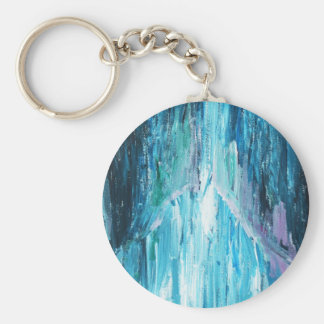 The Coming (religious abstract expressionism) Keychain