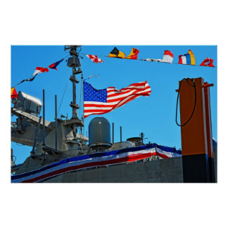 The Commissioning of USS Detroit Poster