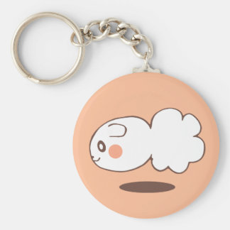 The commodity is customized basic round button key ring